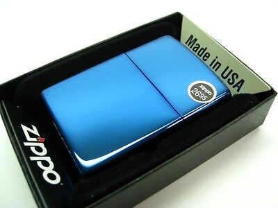 ZIPPO Full Size SAPPHIRE Classic Windproof Lighter 20446 New!