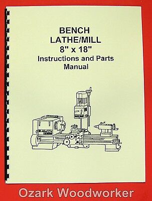 "8""x 18"" Metal Lathe/Mill Instruction & Parts Manual-JET, ENCO, MSC, Asian 0003"