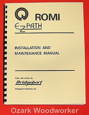"BRIDGEPORT ROMI Ez-Path 16.5"" Metal Lathe Instructions Manual 0076"