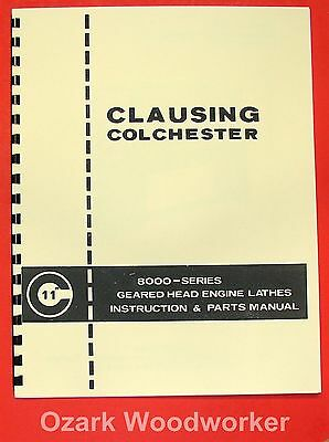"CLAUSING 11""  8000 Series Lathe Operator & Parts Manual 0135"