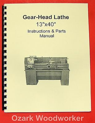 Admirable 13X40 Metal Lathe Instruction Parts Manual Jet Grizzly Caraccident5 Cool Chair Designs And Ideas Caraccident5Info