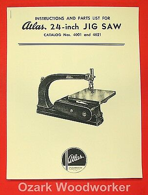 Atlas 24-inch Jig Saw Instruction and Parts Manual 0038