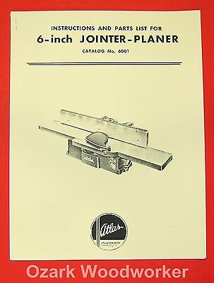 "Atlas 6"" Jointer 6001 Instruction and Parts Manual 0025"