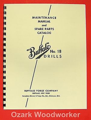 BUFFALO No. 18 Drill Press Instructions and Parts Manual 0104