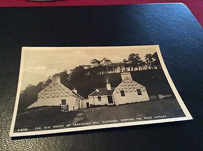 The Old Smithy Of Berriedale Hill Showing Stags Antlers,caithness Pcard