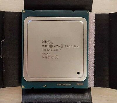 Intel Xeon E5-2630L V2 2.40GHz 6C 15M 7.2GT/s SR1AZ CPU Processor Pair Available