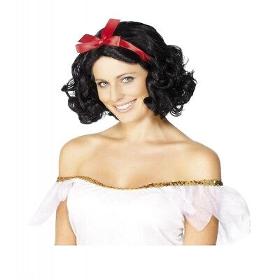 Snow White Wig for Adults Womens Halloween Costume Fancy Dress Accessory