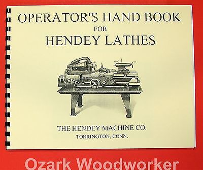 HENDEY OLD Lathe Operator's Hand Book Manual 0360