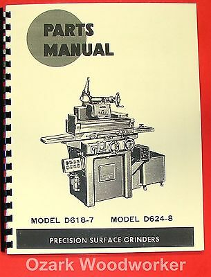 DoALL D618-7 & D624-8 Surface Grinder Parts Manual 0270