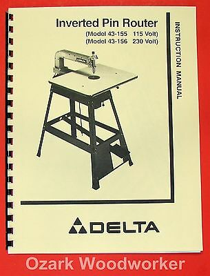 DELTA-Rockwell Inverted Pin Router 43-155, 43-156 Operator's & Parts Manual 0232