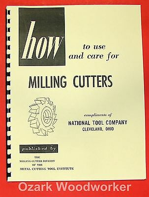 How to use and care for Milling Cutters Manual 0845