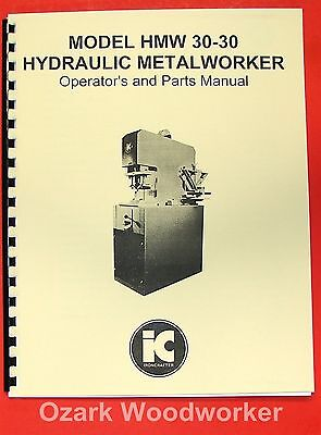 IRONCRAFTER Hydraulic Metalworker HMW 30-30 Manual 0374