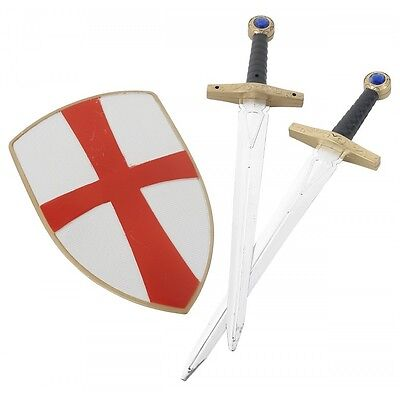 Toy Swords and Shield Kids Crusader Knight Costume Accessory Set