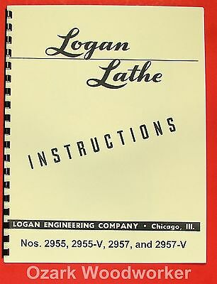 LOGAN 2955, 2955-V, 2957, 2957-V Metal Lathes Instructions Manual 0945