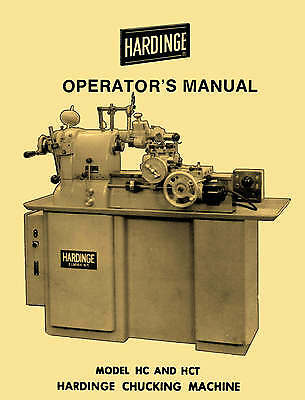 HARDINGE HC & HCT Chucking Machine Lathes Operator's Manual 1122