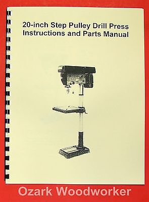 "JET/Asian JDP-20MF 20"" Step-Pulley Drill Press Operator's Parts Manual 0391"
