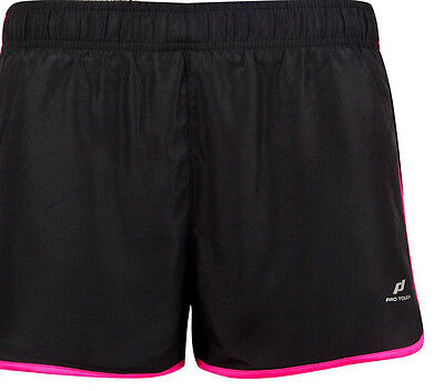 young adult women Pro Touch Isabel Running/Fitness Shorts black pink size 8 & 18