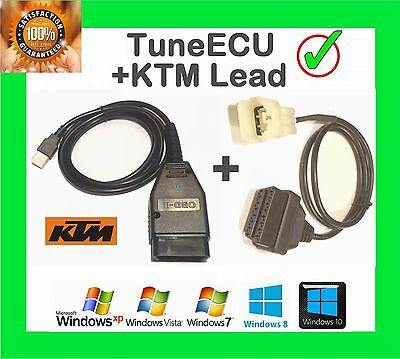 Tune Ecu Diagnostic Cable Kit + Ktm Adaptor - Remap Your Ktm Bike 690 990 1190