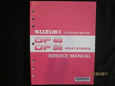 2000-2005 SUZUKI DF 40  DF 50 FOUR STROKE OUTBOARD MOTOR Service Manual Original