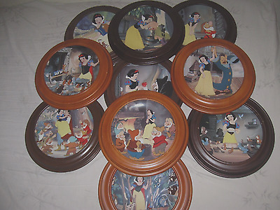 "WALT DISNEY's ""Snow White and the Seven Dwarfs"" Collector's Plates set of ""10"""