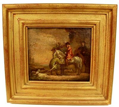 Late 19Th Century French Oil Painting Of A Cavalier On A Horse