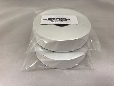 2 Rolls GENUINE Monarch Paxar 1136 WHITE LABELS 000305 / FF-312