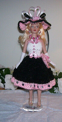7-Pc.handmade Crochet Clothing & Accessories For 10' Kitty Collier Doll