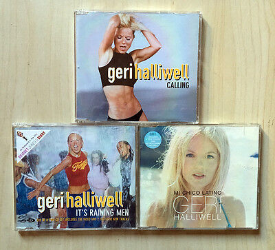 Geri Halliwell SPICE GIRLS LOT 3 cd cds single Calling rare promo brazil
