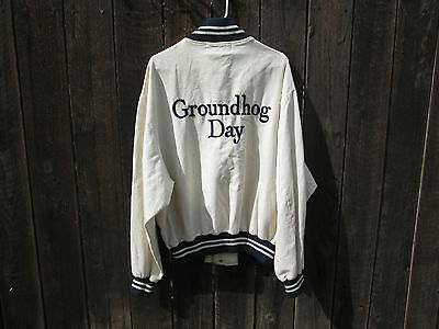 GROUNDHOG DAY Vintage 1992  Film Crew Jacket & Pin BILL MURRAY HAROLD RAMIS