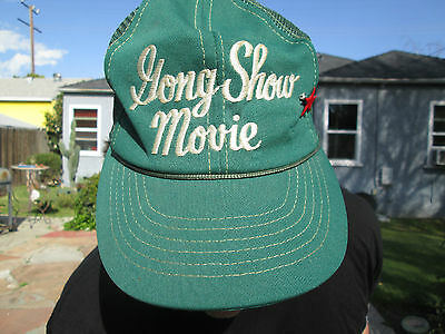 THE GONG SHOW MOVIE Vintage Film Crew Baseball Cap CHUCK BARRIS POPSICLE TWINS