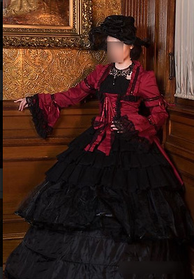 Victorian Gothic Lolita Dress Steampunk Cosplay Theater Costume