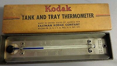 Kodak Camera Film Tank and Tray Thermometer for Photo Developing Vintage Boxed