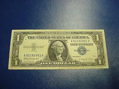 1957 B - $1 USA Silver Certificate note - American one dollar bill - X82192953A