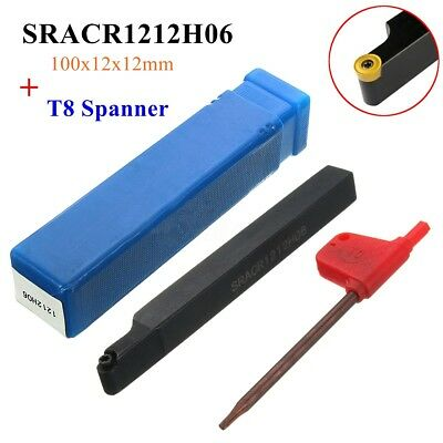 SRACR1212H06 Holder T8 Spanner For 3 RCMT RCGT RCMW 0602MO INSERT 12mm×100mm US