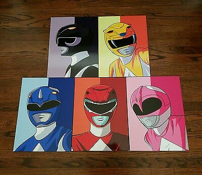 Mighty Morphin Power Rangers Wall Art Pictures - New - See Detail