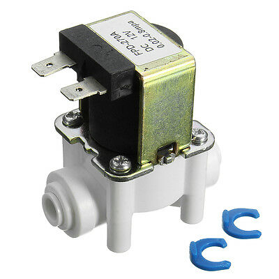 12V 1/4'' Water Solenoid Valve Inlet Feed Quick Connect For RO Reverse Osmosis