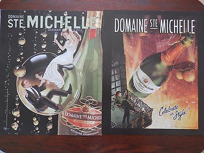 Lot of 2 Print Ads, Domaine Ste. Michelle Champagne, 2003 & 2006