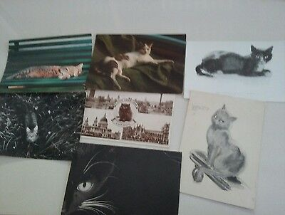 Vintage Cat Postcards Random Mix