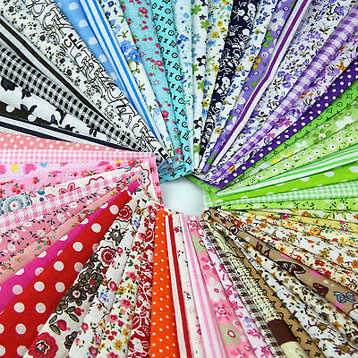 50 par lot Fabric Bundle Stash Patchwork Sewing Paquet de tissus matelassés