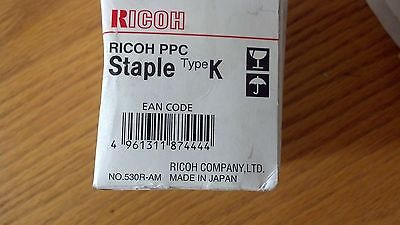 (1) New RICOH PPC Staple Type K Cartridge 410801 530R-AM NEW IN ORIGINAL FACTORY