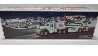 2002 Hess Gasoline Toy Truck And Airplane