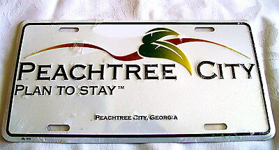 Peachtree City, Georgia  Embossed Metal License Plate/sign- New