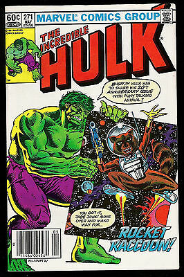 Incredible Hulk #271 First Comic Book Appearance of Rocket Raccoon