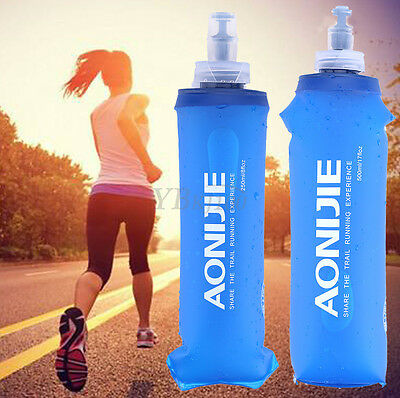 AONIJIE Foldable Soft Flask Squeeze Outdoor Running Water Bottle 250/500ml AF