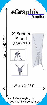 "X-Banner Stand, Adjustable: Width: 24""-31"", Length: 63""-70"""