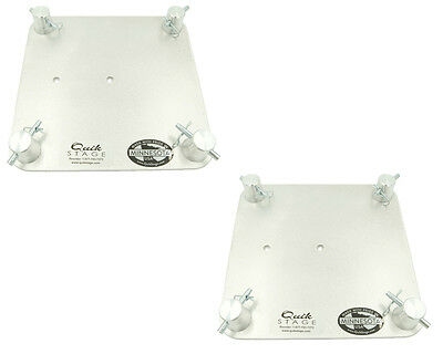 """Pair of 9"""" x 9"""" Aluminum Truss Base or Top Plate Fits Global Truss F23-F24"""