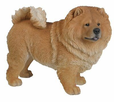 Standing Chow Chow Dog Statue New Realistic Life Like Details Home Garden Decor