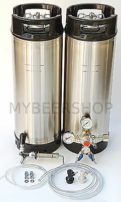 XPERT BALL LOCK KEGGING KIT with PREMIUM REGULATOR HOME BREW BEER KEG SYSTEM SET