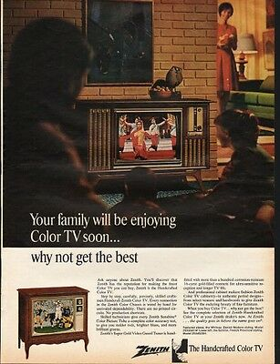 "1966 Zenith Color TV Ad ""why not get the best"""