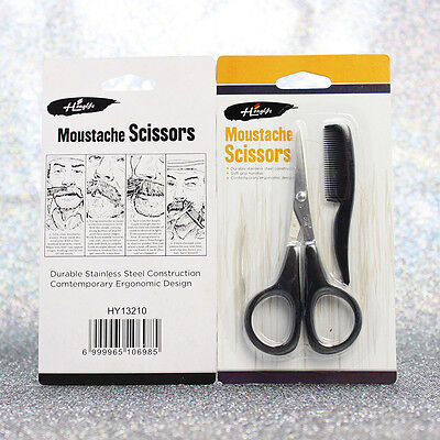 Beard Mustache Scissors Comb Trimming Kit Small Facial Hair Trimmer Grooming Kit